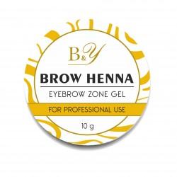 B&Y Brow Henna Eyebrow Zone Gel 10g