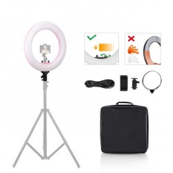 Led ring light Bi-color 48cm pink color