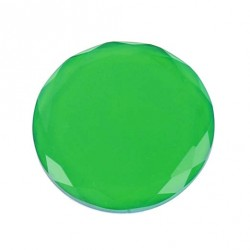 Green glass tray for glue