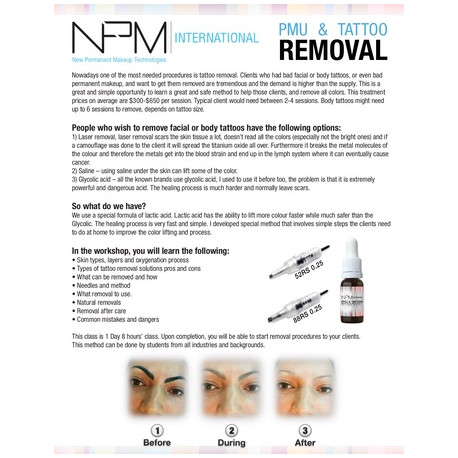 NPM PMU&Tattoo Removal 10ml (after education)