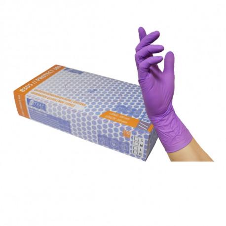 Nitrile gloves free powder light pink (100pcs.)