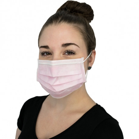 Face mask Protection 4-layer, light pink, 50pcs