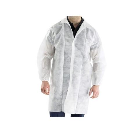 Guest lab coat, PP 30gsm, white (10pcs)