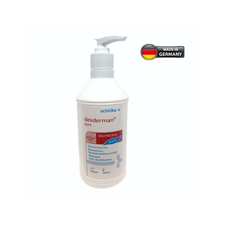 Schülke Desderman pure Alcoholic rub for hygienic and surgical hand disinfection. 500ml