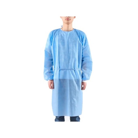Disposable Waterproof  CPE gown, blue
