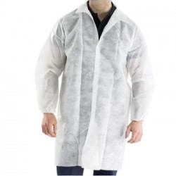 LyncMed Guest lab coat,  white