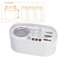 Wax heater with temperature setting