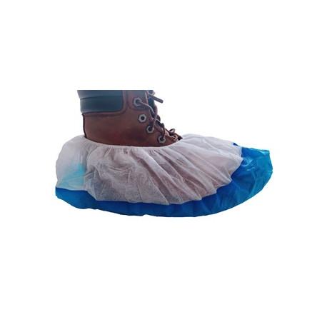 LyncMed antbačiai (bachilai) PP+CPE 15x40 cm, balta/mėlyna sp. (100 vnt.)