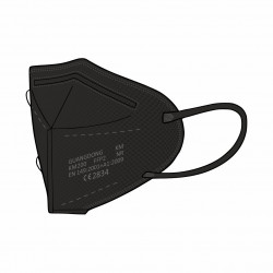 Guangdong respirator  FFP2, black with hook