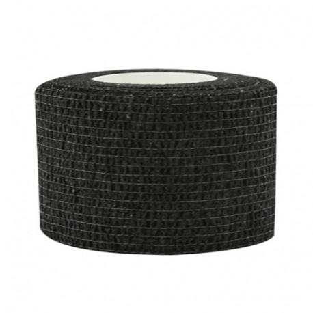 Lipni elastinė juosta 2,5x450 cm, juoda