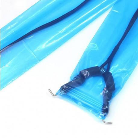 Premium maišelis kontaktiniam laidui, pilkas 5x150cm (100 vnt.)