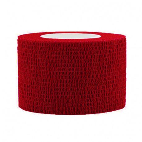 Lipni elastinė juosta 2,5x450 cm, raudona