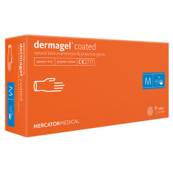 Mercator Dermagel Powder-free Latex Gloves M (100 pcs.)