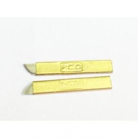 Microblading 14- pin peiliukai gold
