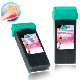 Vaškas kasetėje Depil-OK Juodas su jūros dumblių, tinkamas vyrams, 110 g
