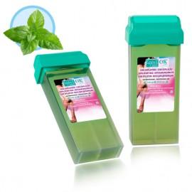 Depil-OK Vaškas kasetėje Mėtų lapas su arbatmedžio aliejumi   (100 g)