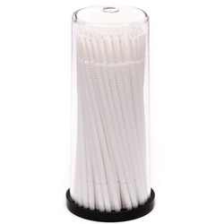 Micro-Applicator Brushes White 15mm Long Taper Tip (100pcs)