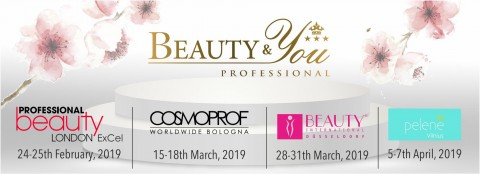 Thanks for meeting us: Beauty Excel, Beauty Dusseldorf, Cosmoprof and Beauty Cinderella 2019!